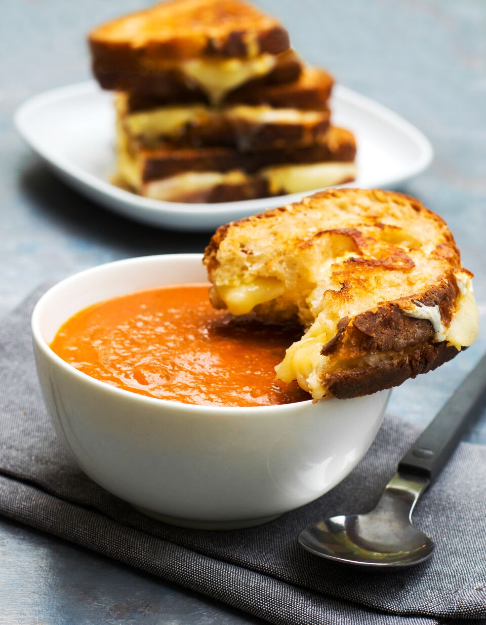 gourmet grilled cheese and quick tomato soup aurora satler